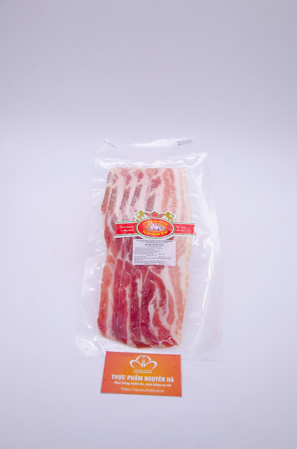 ba rọi xông khói bacon