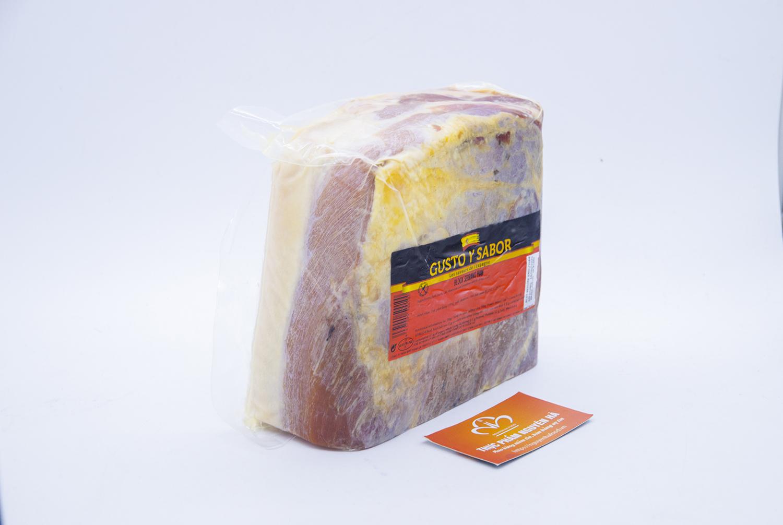 Đùi lợn muối không xương 36 tháng chân sau, ép cục - Bloque jamon serrano