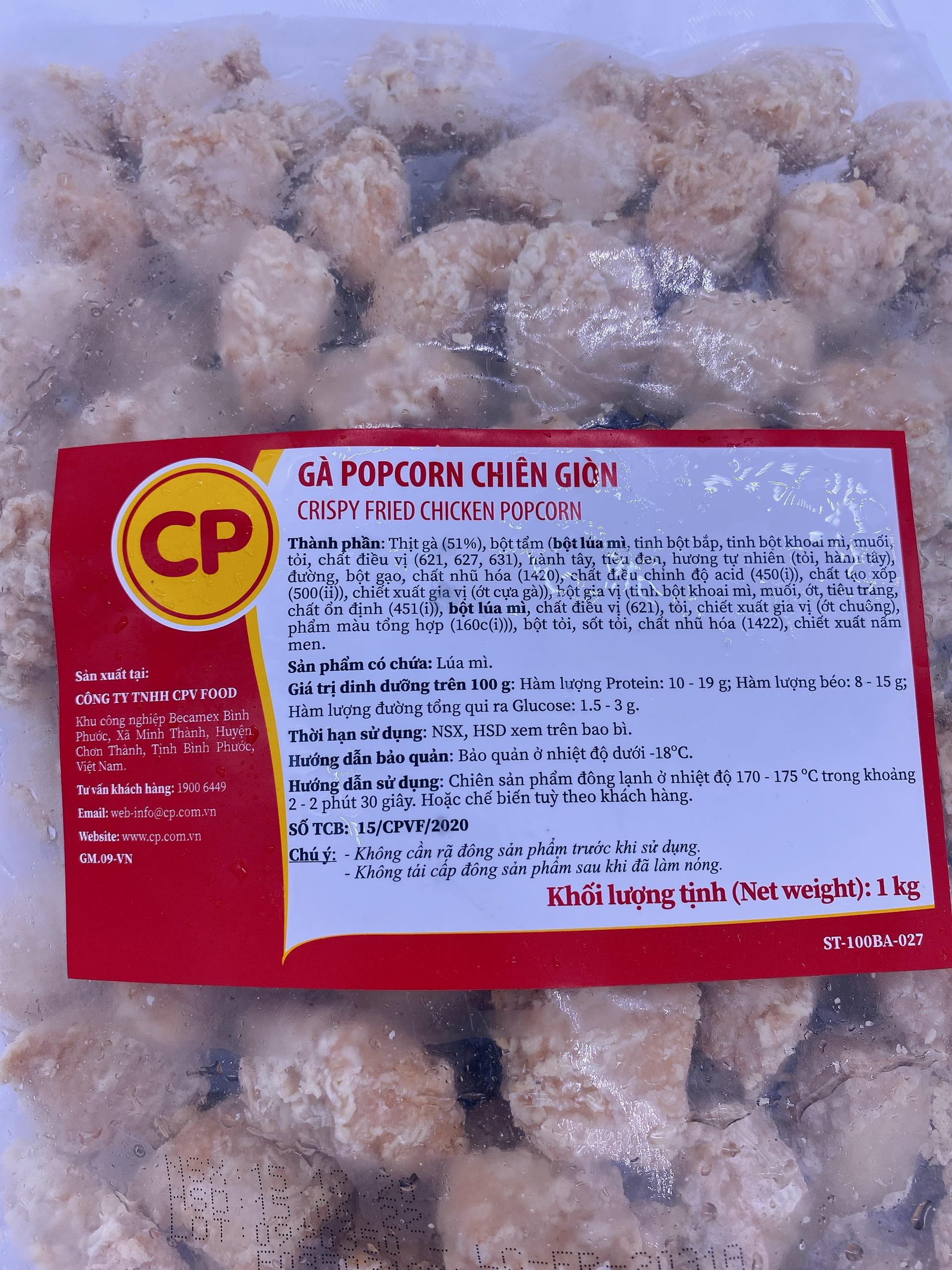 Popcorn gà