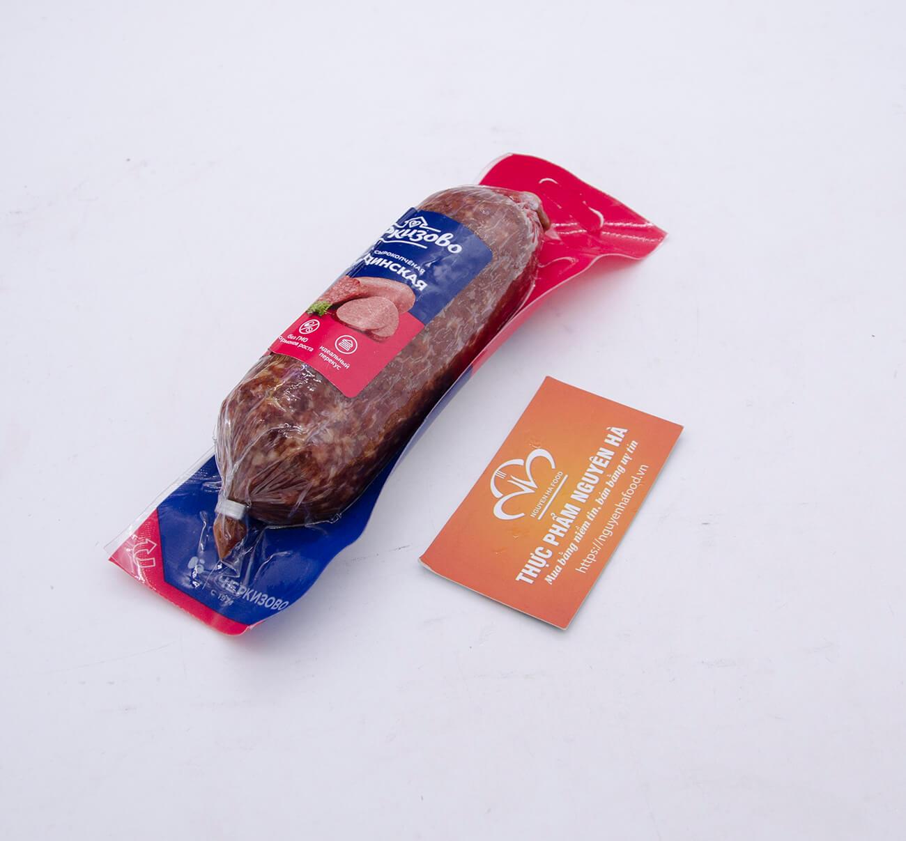Giò salami hun khói