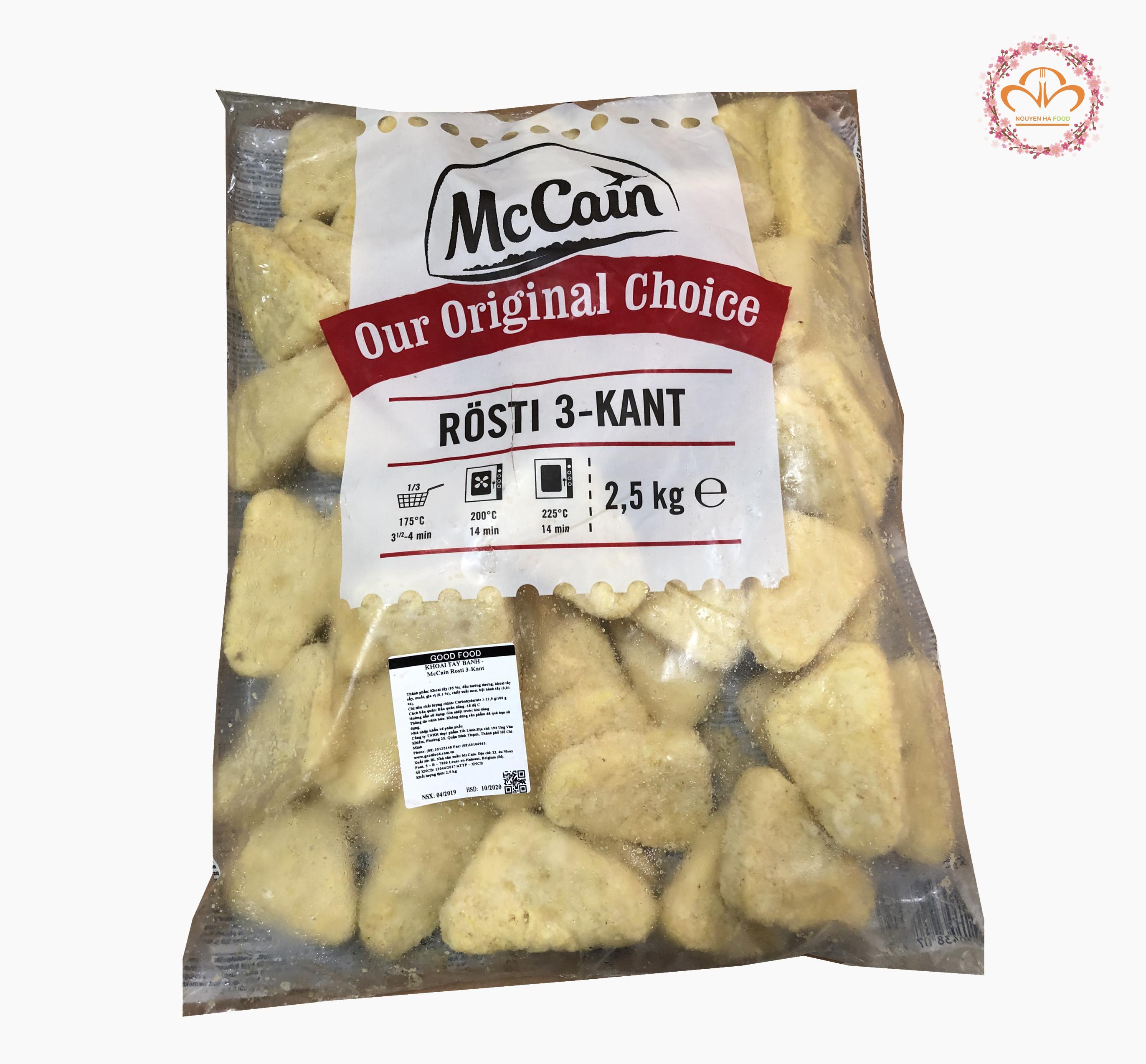 khoai tây mccain hash brown tam giác (mccain rosti 3 kant)