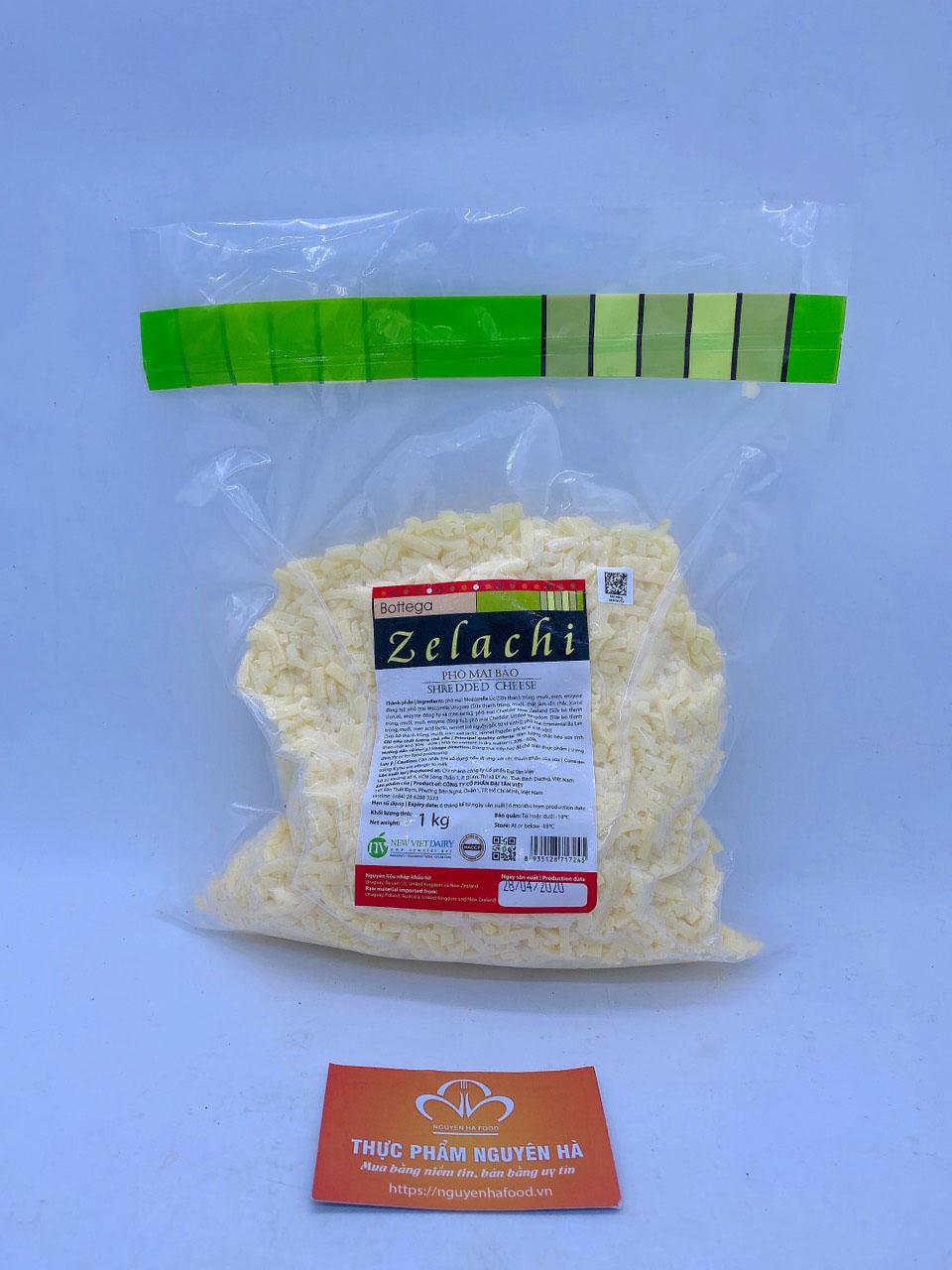 phô mai mozzarella bào Bottega Zelachi