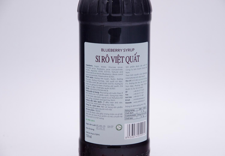 Si rô việt quất Osterberg – blueberry syrup
