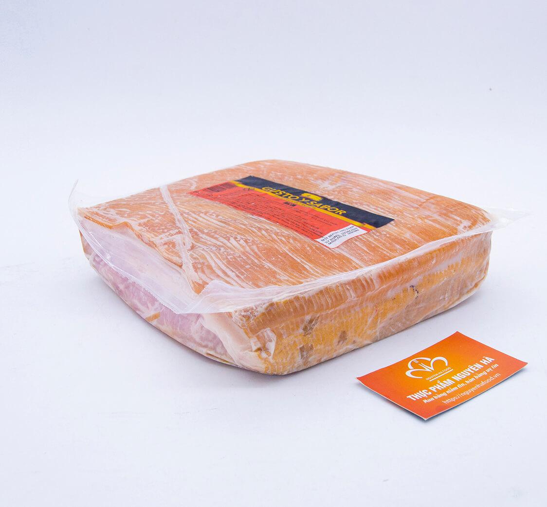 Thịt ba rọi muối xắt lát có da 36 tháng bacon